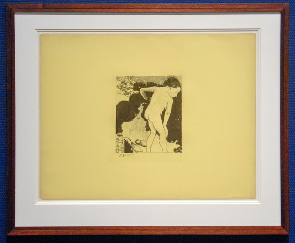 Paul Gauguin - Bretonse baadsters (Baigneuses Bretonnes) - Zinkgrafie uit de prentenserie Volpini, 1889