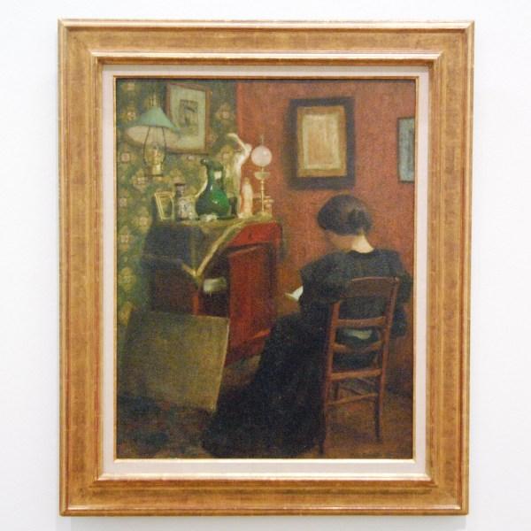 Henri Matisse - Lezende vrouw - Olieverf op hout, 1895