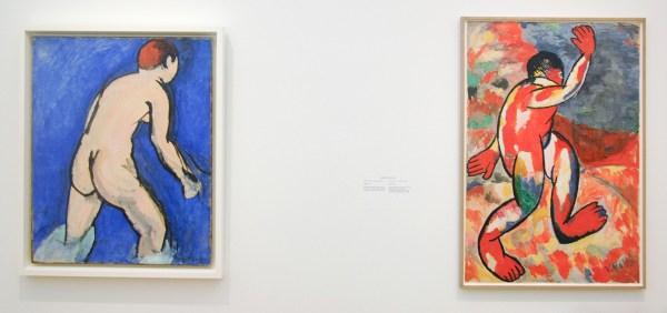 Henri Matisse - Baadster - Olieverf op doek, 1909 & Kazimir Malevich - Bader - Gouache, potlood en krijt op papier, 1911