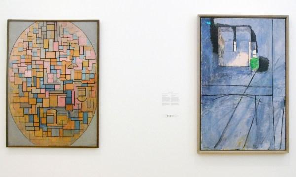 Piet Mondriaan - Tableau II, compositie in ovaal - Olieverf op doek, 1914 Henri Matisse - Gezeicht op de Notre-Dame - Olieverf op doek, 1914