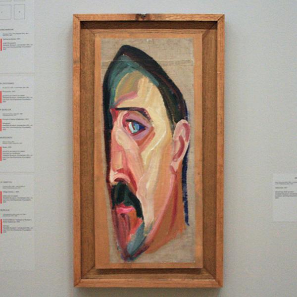 Mikhail Matyushin - Zelfportret - Olieverf op doek op hout 1917