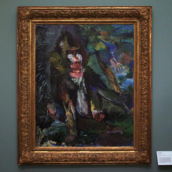Oskar Kokoschka - Mandrill - Olieverf op doek 1926