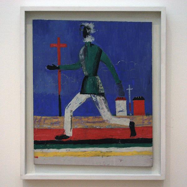 Kazimir Malevich - Rennende Man - Olieverf op doek 1930