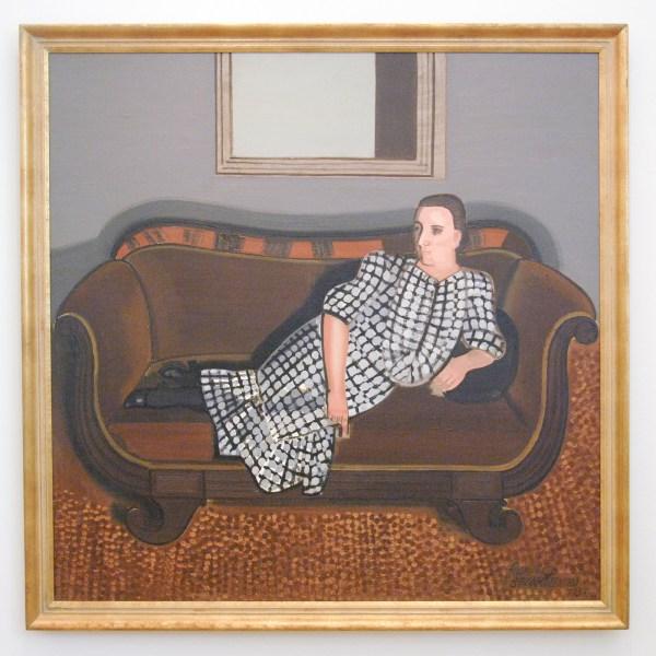 Jean Brusselmans - Dame op canape - Olieverf op doek, 1937