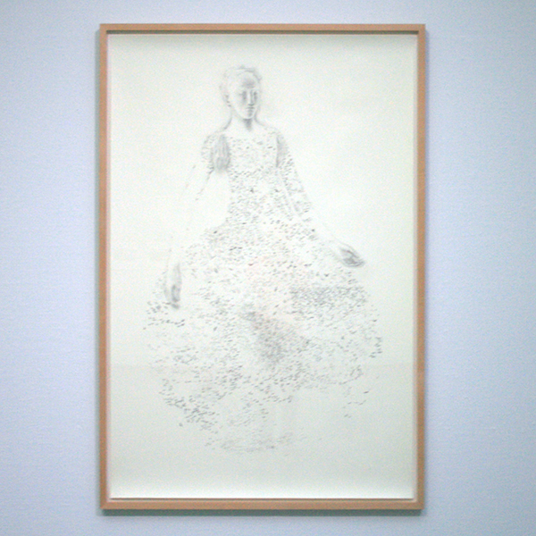 2002 - Juul Kraijer - Zonder Titel - Houtskool op papier