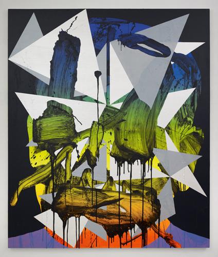 Luke Rudolf - Portrait No 18 - 190cm x 160cm acryl en olie