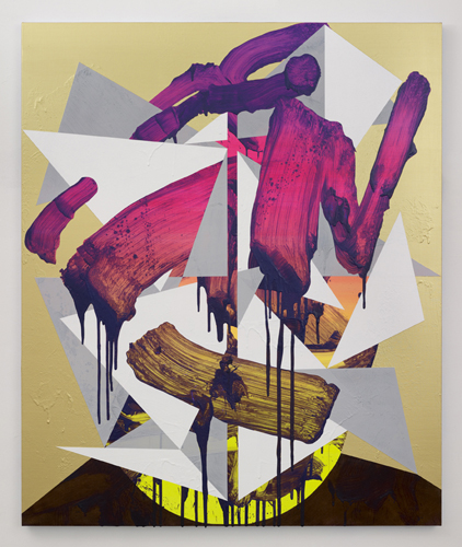 Luke Rudolf - Portrait No 19 - 150cm x 125cm acryl en olie