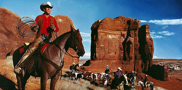 Cowboy #1 - 240x120cm Olieverf