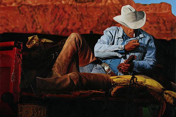 Cowboy #5 - 180x120cm Olieverf