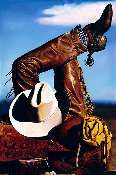 Cowboy #7 - 120x180cm Olieverf