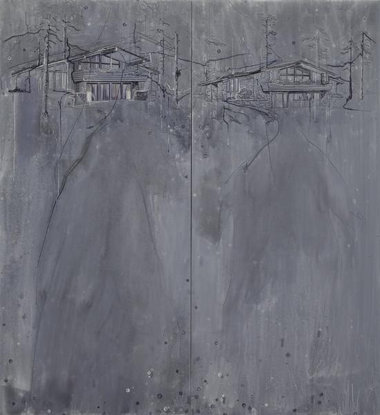 Duplicate - Acryl en draad 224x224cm