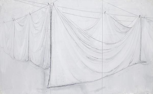 Unfold - Acryl en draad 210x342cm