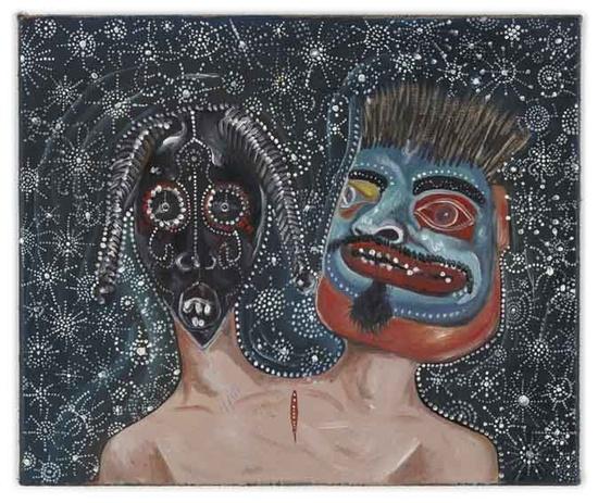 Untitled (Shaman) - 30x36cm Olieverf 2008