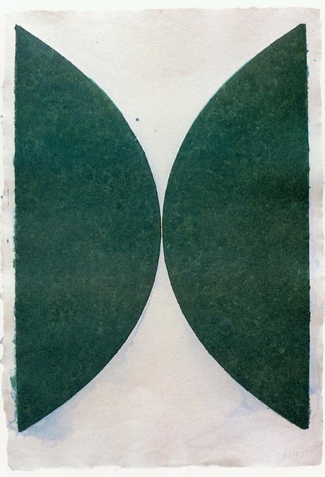 Ellsworth Kelly - Colored Paper Image II (Dark Green Curves) - 40x29inch Gekleurde en geperstte papier pulp