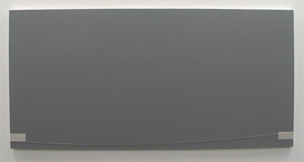 Jan Andriesse - Van Daar Naar Hier - Acrylverf, ketting, aluminiumfolie op linnen