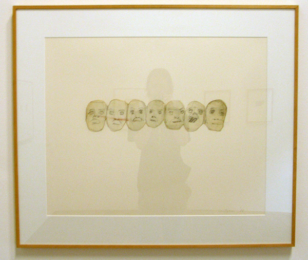 Luc Tuymans - Zonder Titel (Speech) - Potlood op aquarelpapier