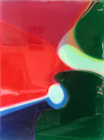 Untiteld - 60x45cm Epoxy en airbrush op canvas