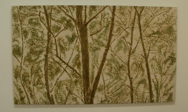 Verde del bosco (Groen van het bos) - Pigment op canvas