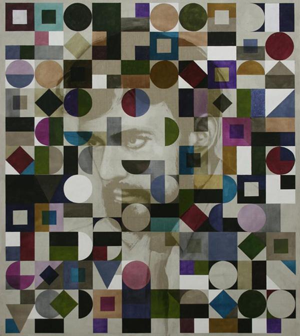 Matthias Bitzer - Dark Man - 240x210cm Inkt en acrylverf op canvas