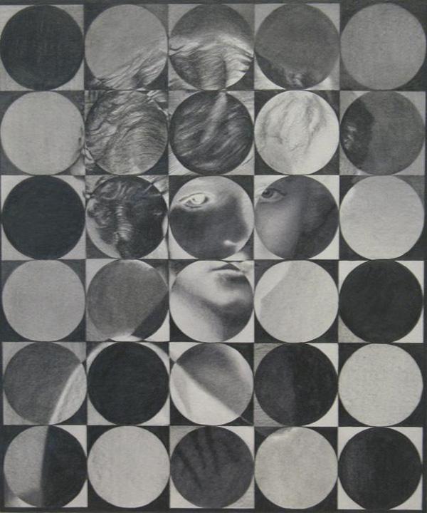 Matthias Bitzer - Inconnue elle était ma forme préférée - 35x30cm Grafiet op papier