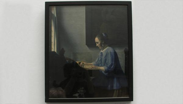 Muzieklezende vrouw - 1935
