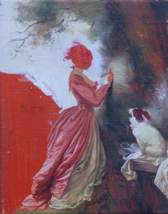 Ross Chisholm - Souvenier - 25x20cm Olieverf op canvas