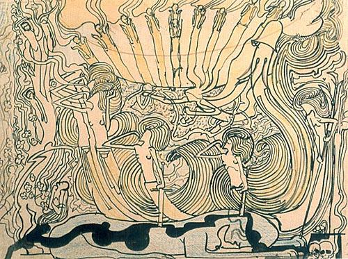 Studie voor de Drie Bruiden - 19x26cm Potlood op papier
