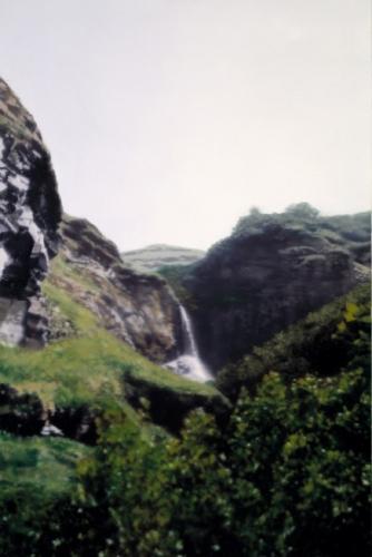 Wasserfall/ Waterfall, 1997, 165 cm X 110 cm, Oil on linen