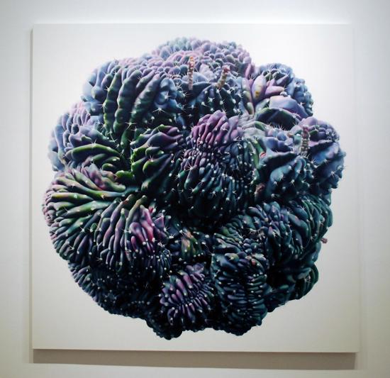 Cactus no.36 - 200x220cm Olieverf op canvas