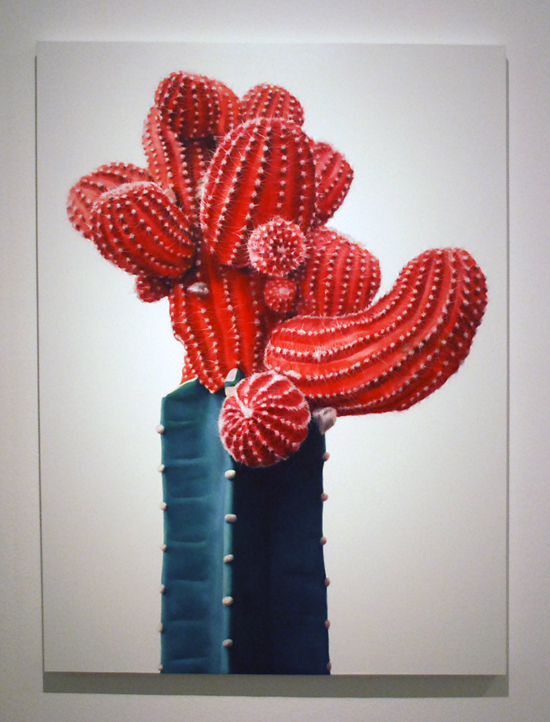 Cactus no.45 - 130x97cm Olieverf op canvas