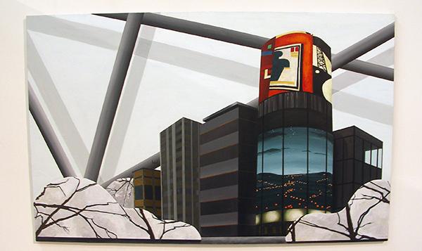 Bonnie Severien - La Ville - 120x190cm Acryl op paneel