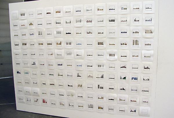 Karin van Bodegom - City Shapes - 20x20cm Collage potlood en pen