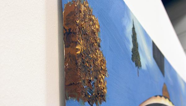 Michiel van der Zanden - Recreation #2 -145x190cm Acryl en olieverf op doek (detail)