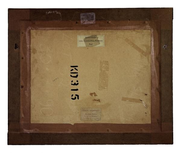 Verso - Eugène Delacroix - Etude pour chevaux se battant dans une écurie - 55x65cm