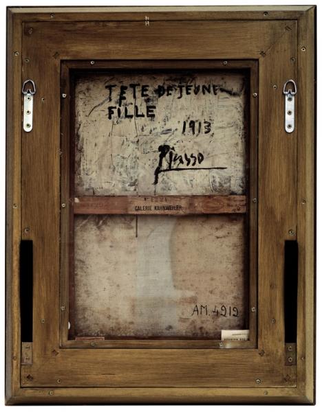 Verso - Pablo Picasso - Tête de jeune fille- 85x67cm