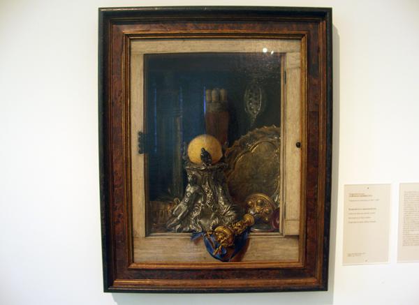 Cornelis Gijsbrechts - Pronkstilleven in openstaande kast