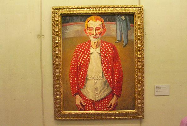 De Oude Clown - Olieverf op canvas