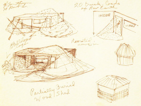 Documentary Drawings for Partially Buried Woodshed