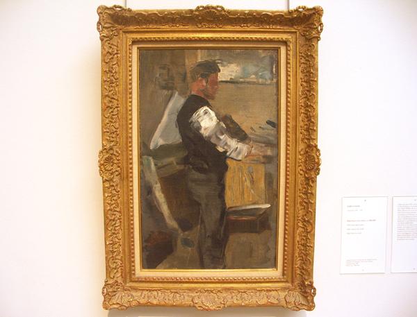 James Ensor - Willy Finch in het atelier