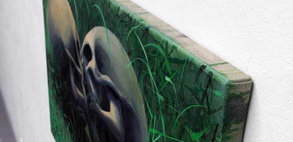 Olphaert den Otter - Paolo e Francesca - Eitempera op doek op paneel (detail)