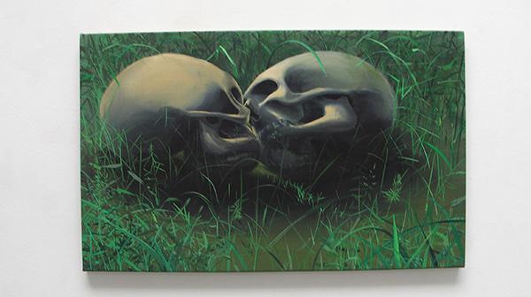 Olphaert den Otter - Paolo e Francesca - Eitempera op doek op paneel
