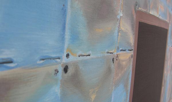Olphaert den Otter - Tin Palace - Eitempera op doek op paneel (detail)