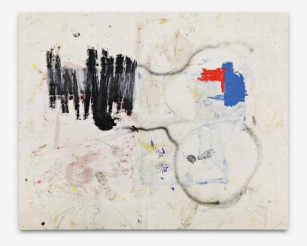 Richard - 193x239cm Olieverf, spuitbus en mixed-media op canvas