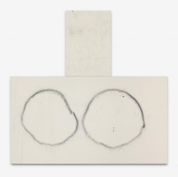Susan - 140x254cm + 107x74cm Olieverf, spuitbus en mixed-media op canvas in twee delen