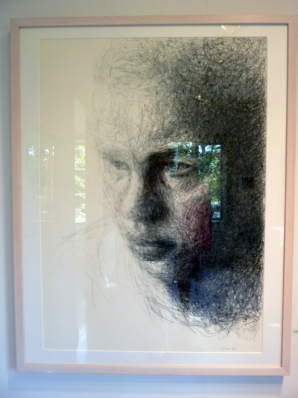 Vappu Rossi - Ikkunassa (Soltitude) - In The Window (soltitude) - 115x91cm Potlood op papier