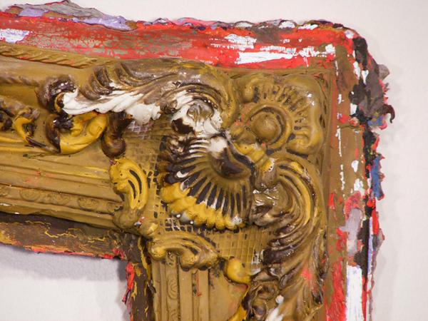 Derrida's Frame Warped - 32x26inch Acrylverf (detail)