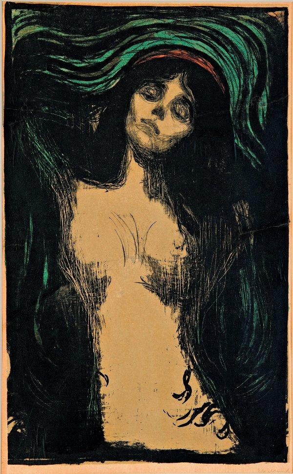 Edvard Munch, Madonna, 1896-1902