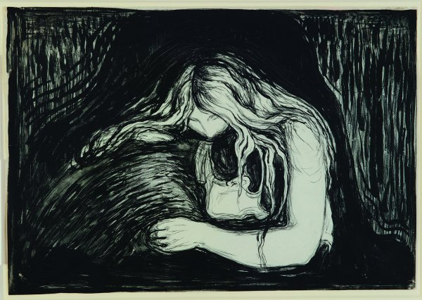 Edvard Munch, Vampier II, 1895