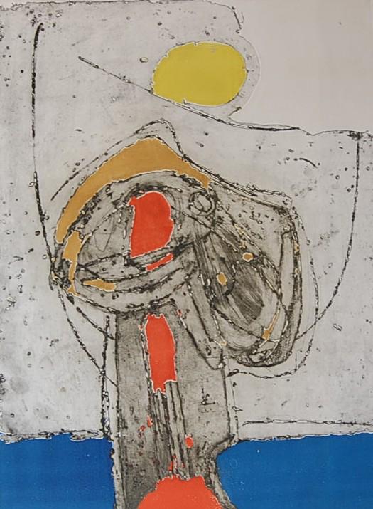 Cees Kortlang, Flowers of heart, 1990, 59,5 x 44 cm, ets