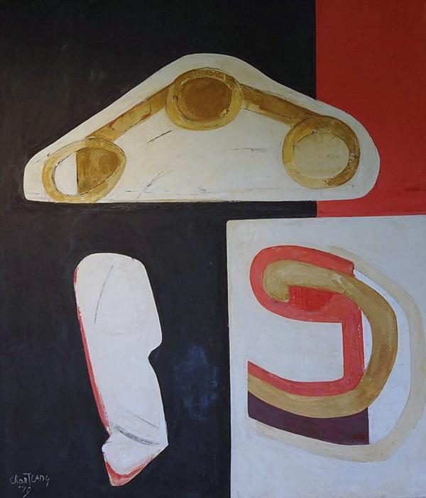 Cees Kortlang, The Beginning, 1979, 140 x 120 cm, olie op doek